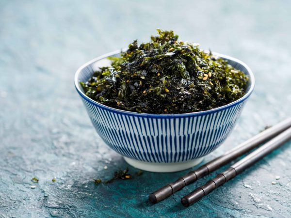 Crispy Nori Seaweed with sesame and sea salt. Asian cuisine