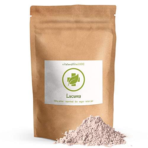 Bio Lucuma Fruchtpulver - 100 g - Superfood - in bewährter Rohkostqualität - ideal zum Süßen von Smoothies oder Desserts - 100% vegan und rein - OHNE Hilfs- u. Zusatzstoffe