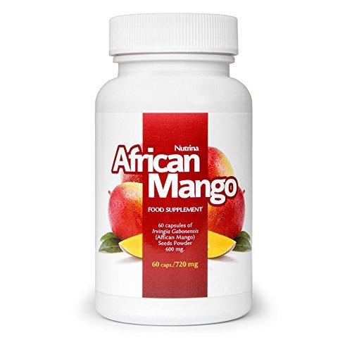 AFRICAN MANGO - Samenpulver der Afrikanischen Mango Irvingia Gabonensis, Food Supplement (60 Kapseln)