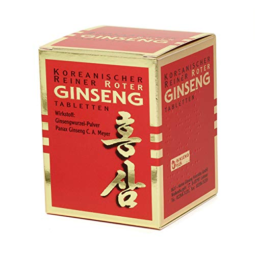 Koreanischer Reiner Roter Ginseng - 200 Wurzelpulver Tabletten (300 mg); freiverkäufliches Arzneimittel   Panax Ginseng C. A. Meyer   Vegan