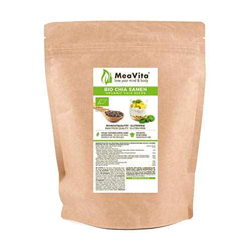 MeaVita Bio Chia Samen, (1 x 500g) naturbelassen, glutenfrei ohne Gentechnik