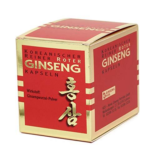Koreanischer Reiner Roter Ginseng - 100 Wurzelpulver Kapseln (300 mg); freiverkäufliches Arzneimittel   Panax Ginseng C. A. Meyer