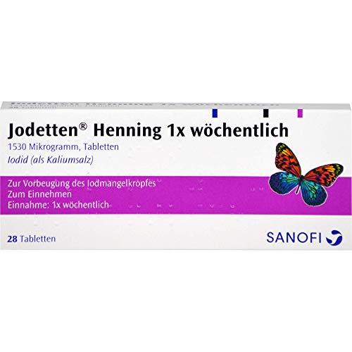 Jodetten Henning 1 x wöchentlich Tabletten, 28 St.