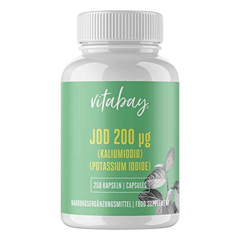 Vitabay Jod 200 µg • 250 Kapseln • Aus Kaliumiodid • Made in Germany