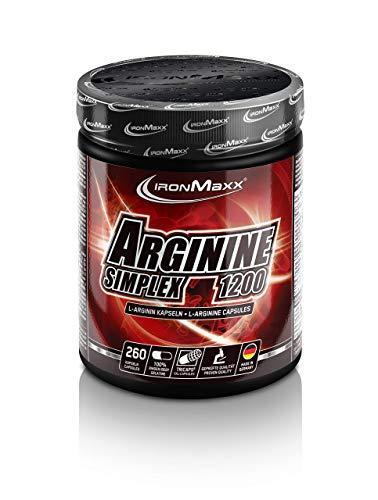 Ironmaxx 1250mg Arginine Simple 1200 Capsules - Pack of 260 Capsules